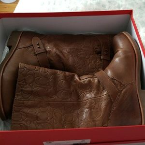 coach  leather boots size 9